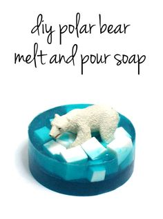 Easy Melt and Pour Polar Bear Soap Tutorial - These make fun homemade Christmas gifts and stocking stuffers!