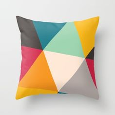 Buy Triangles Throw Pillow by Gary Andrew Clarke. Worldwide shipping available at Society6.com. Just one of millions of high quality products available.