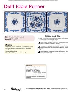 Table Runners & Coasters Pg. 19