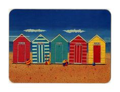 A trip to the seaside :) Hut Images, Beach Huts Art, James Beach, Painted Outdoor Furniture, Wendy House, Seaside Beach, Pin On, Beach Shack, Am Meer