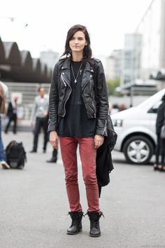 Katlin Aas | A Love is Blind - Paris Fashionweek ss2014 day1, outside Dries van Noten