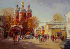 Russian Master: Bilyaev Roman http://www.russianfineart.com/catalog/prod.php?productid=24365  Klimentovsky Lane. Noon - oil, canvas