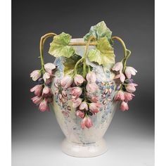 Offered for sale is a large and rare century Italian majolica vase made by Fullin Mollica in the Barbotine style. The vase is enameled in a Decoration Cactus, Vases Decor, Vase Transparent, Mini Vasos, Vase Design, Keramik Vase, Clay Vase, Wedding Vases, Vase Shapes