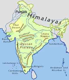 Indus River valley with Thar (Great Indian Desert) and himalayas Geography Map, Physical Geography, Geography Classroom, Geography Activities, Geography Lessons, Teaching Geography, Physical Science, Science Classroom, Science Education