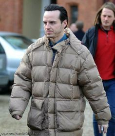 andrew scott in a puffy jacket my life is complete