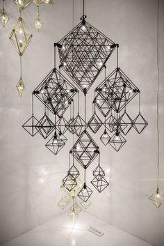 Rectangular Lighting Fixtures Add Geometric Dimension to Decor ...