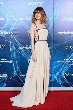 Emma Stone's best red carpet outfits—New York Premiere of The Amazing Spider-Man, 2014