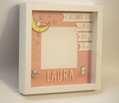 Fashion and Lifestyle Baby Presents, New Baby Gifts, Framed Art Inspiration, Baby Staff, Baby Deco, Diy Shadow Box, Baby Frame, Baby Box, Handmade Frames