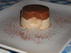 Mousse bicolore al cioccolato e caffé