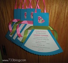 Apron Invitations to a cooking bday party. So sweet!