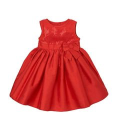 Red Sequin and Taffeta Party Dress