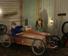 wooden soapbox derby car