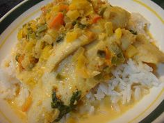 Thai curry coconut sole
