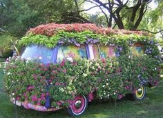 cool flower covered VW