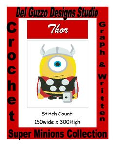 SIZE:  Twin size pattern 150x300  Series: Super Minions  Pattern Information:  PDF consisting of 36 pages  A full color pattern containing a front cover, small complete graph, how to tape pages together, large graph broken down onto multiple pages for ease of viewing. (can be zoomed in and out)  Color key for Red Heart Yarns.  Instructions for how to read my graphs/patterns  And a Stitch and Skein count in an easy to read chart for G, H, & I hooks in SC, DC, & HDC