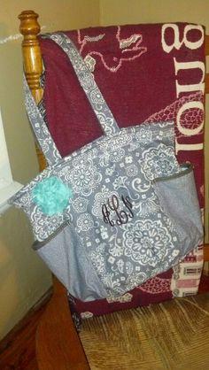 Woodblock floral, thirty one retro metro bag