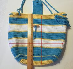 How to add a liner to your crochet bag.