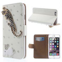 Leopard & Rabbit Rhinestone Leather Stand Case