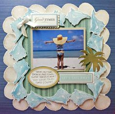 Anna's last HSN show had some fabulous new products! Today I'm sharing some of the projects that I did for the shows. This first layout was done with tone of the new Seasonal Dies. This is a great col