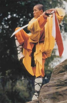 Luka would also have a picture of a monk practicing kung fu, because he also practices kung fu.  He also learned how the art of kung fu and Xi Ling from the monks at the Shaolin Temple.