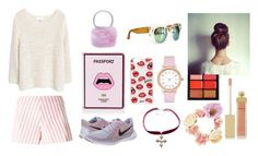 """""""Love Kiss"""" by hien-anhhs ❤ liked on Polyvore featuring MANGO, Yazbukey, NIKE, Drome, Chicnova Fashion, Sonix, Kate Spade, Child Of Wild, MAC Cosmetics and AERIN"""