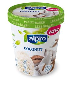 Product packaging of Alpro Coconut ice cream Coconut Ice Cream, Vegan Ice Cream, Dairy Free Treats, Fresh Food Delivery, Tesco Groceries, Dairy Free Ice Cream, Slimming World Recipes, Vegan Foods, Healthy Foods