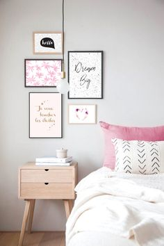 Affiche Dream Big - decoration murale chambre moderne