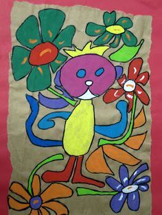 Clayton Elementary Art: Amate Bark Painting by Second Grade