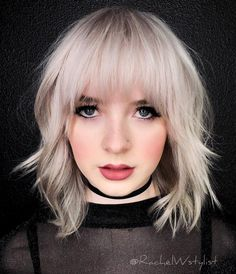 Fantastic Choppy Bob Hairstyles For All Moods And Occasions Choppy Wavy Lob With Arched BangsChoppy Wavy Lob With Arched Bangs Short Layered Bob Haircuts, Wavy Bob Hairstyles, Medium Hairstyles With Bangs, Medium Shag Haircuts, Choppy Haircuts, Hairstyle Short, Shaved Hairstyles, Hairstyles 2016, Long Thin Hair