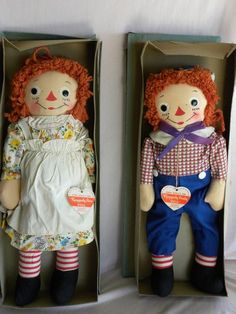 Amazing find...vintage Raggedy Ann and Andy...Georgene