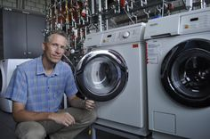 Microplastics sloughed from synthetic fabrics in the washing machine