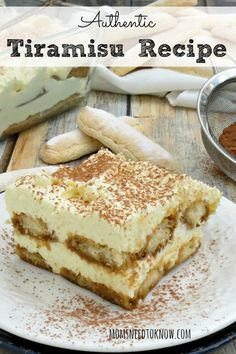 This tiramisu recipe is my absolute favorite and is so moist and decadent! If you are looking for an authentic tiramisu recipe - then this is it!