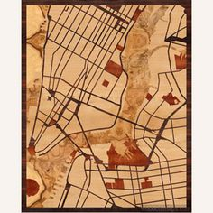 Wood maps of whatever Google Map you want