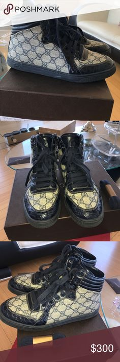 17f9e279e3c7 Bought from Las Vegas Gucci store. Comes with brand new original laces and  box. Gently used and great condition Gucci Shoes Sneakers