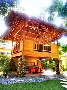 He-Tin-Kis Lodge in Ucluelet on Vancouver Island.so beautiful. Filipino Architecture, Bamboo Architecture, Yosemite Lodging, Bungalow, Bamboo Building, Hut House, Gazebos, Bamboo Structure, Bamboo House