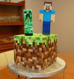 minecraft cake - something like this