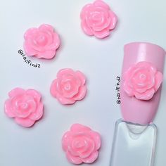 """In the Garden"" Nail Studs - Pink (4 pcs)"