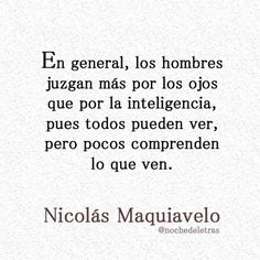 Maquiavelo.