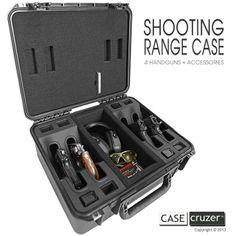 Shooting Range Handgun Case - The perfect gift for the gun aficionado in your life. http://www.casecruzer.com/gun-cases/shooting-range/qdsr-handgun-4pack.html