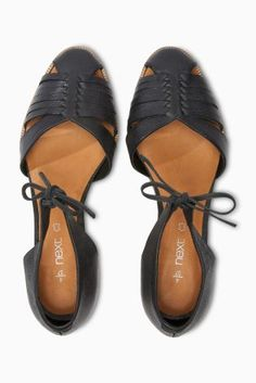 Buy Leather Two Part Low Wedges online today at Next: Israel