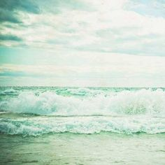 Ocean waves, at the beach. Beach Photography, Nature Photography, Image Photography, Verde Aqua, Mint Green Aesthetic, Nautical Prints, I Love The Beach, Ocean Beach, Ocean Waves
