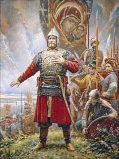 Historical paintings by Vasily Nesterenko Vikings, Russian Folk, Russian Art, Russian Painting, Medieval Armor, Medieval Fantasy, Military Art, Military History, High Middle Ages