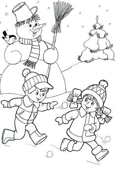 Most Popular Winter Crafts in Our Website - Outdoor Click Coloring Pages Winter, Christmas Coloring Pages, Coloring Book Pages, Coloring Pages For Kids, Christmas Colors, Winter Christmas, Christmas Crafts, Printable Pictures, Winter Colors