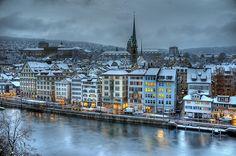 Winter in Zurich, Switzerland