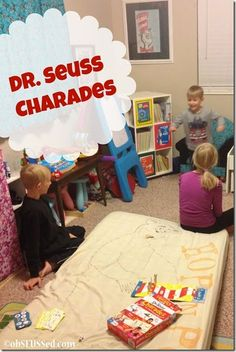 Kids can play Charades too! So fun with this new Dr. Seuss charades game! See our review at obSEUSSed.