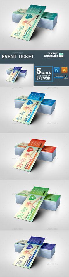 Ticket Template PSD, Vector EPS, AI #design Download: http://graphicriver.net/item/ticket/14241639?ref=ksioks
