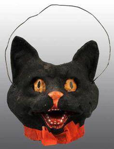 Antique Black Cat Lantern