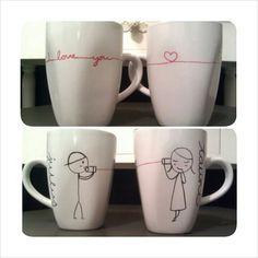 'i love you' mugs