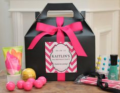 For out of town guests: Set of 8  Teen Party Favor Box // Sweet 16 Party by thefavorbox, $28.00