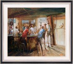 I adore Hugh Sawrey's work, classic Australian Art,
